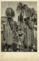 KENYA KOLONY - The Tiriki (Bantu) dress peculiarly during their circumcision festivities