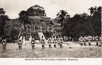 Murderers of Sir Thomas London on scaffold. Mombasa