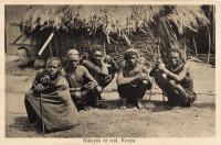 Kikuyus at rest, Kenya