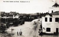 The Public Garden and Bank, Mombasa, B.E.A.
