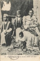 The King of Uganda, with his Brother, Mother and Sister