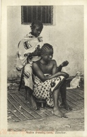 Native dressing hairs, Zanzibar