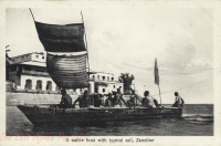 A native boat with typical sail
