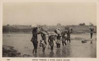 Safari Fording a River - Kenya Colony