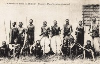 Guerriers Masaï (Afrique Orientale)