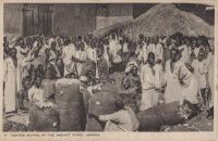 Cotton buying at the Market stote, Uganda