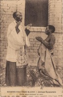 Prêtre nègre bénissant sa mère
