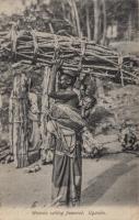 Woman selling firewood. Uganda