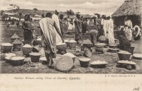 Native Women selling Flour at Entebbe, Uganda
