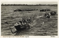 Canoe Racing on Lake Victoria, Entebbe, Uganda