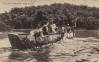A Canoe Crossing the Nile