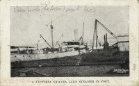 A Victoria Nyanza Lake Steamer in Port