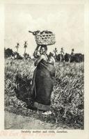 Swahily mother and child, Zanzibar