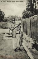 A Native Woman at the Tank, Zamba