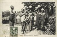 Group of water-women, Zanzibar