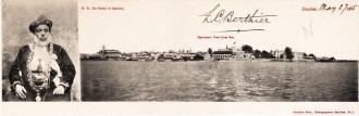 H.H. The Sultan of Zanzibar + Panoramic view from sea