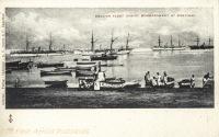English Fleet during bombardment at Zanzibar