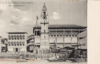 H.H. the Sultan s Palace before the bombardment. Zanzibar - BY: Pereira De Lord, Photo Artist, Zanzibar -1900s -