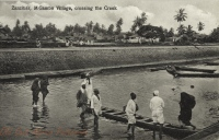 M Gambo Village, crossing the Creek