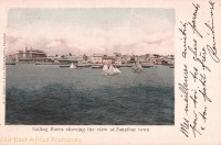 Sailing races showing the view of Zanzibar Town