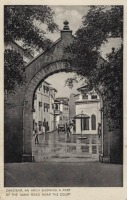 Zanzibar, an arch showing a part of the main road near the Court