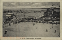 H. H. The Sultan arrives at Zanzibar