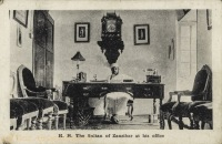 H.H. The Sultan at his office
